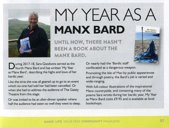 Review of My Year as Manx Bard