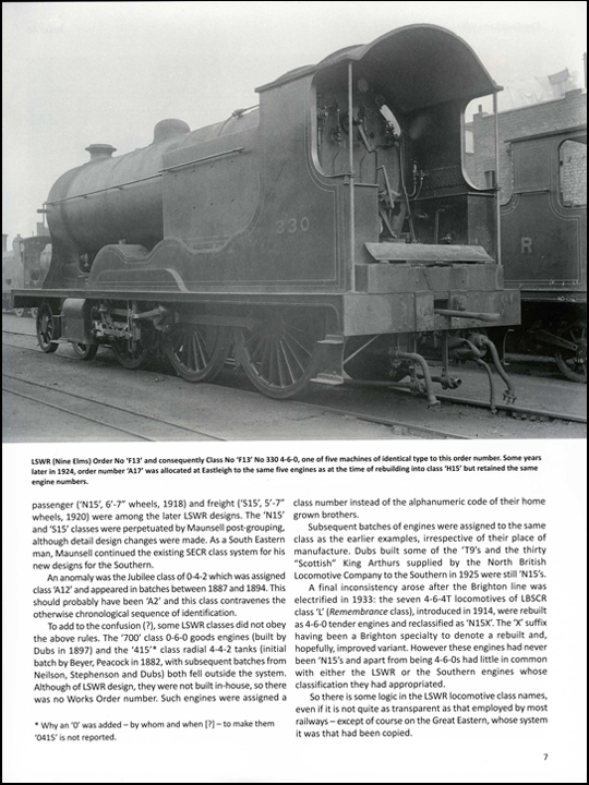 LSWR Locomotive Class Designations by George Hobbs