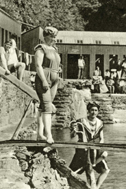 Photo of swimmers from Port Erin; past & present