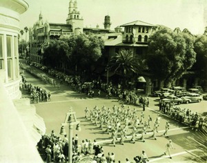Image of troops on parade