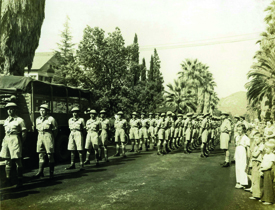 Image of troops marching