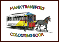 Image of Manx Transport Colouring book cover