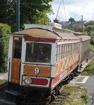 image of a tram from stops along the manx electric railway